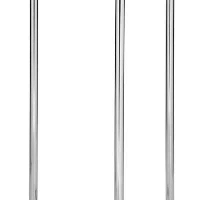 Dekoracyjny stojak do świecznika srebrny, błyszczący