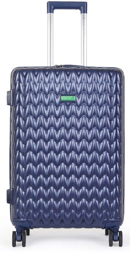 Twarda walizka United Colors of Benetton 55 cm, niebieska
