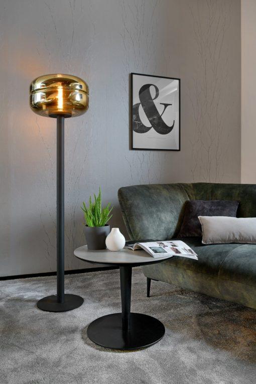 Lampa Villeroy & Boch czarna, złoty klosz